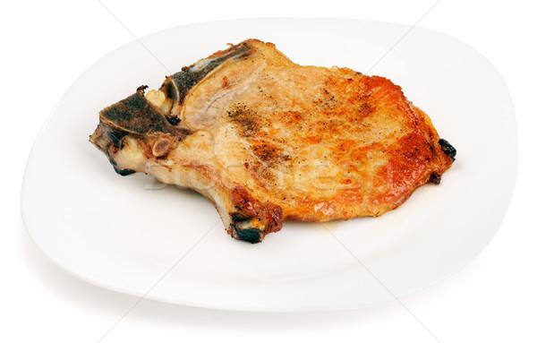 豚肉 プレート 白 肉 白地 ストックフォト © vtls