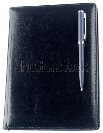 Personal organizer and pen isolated on white Stock photo © vtls