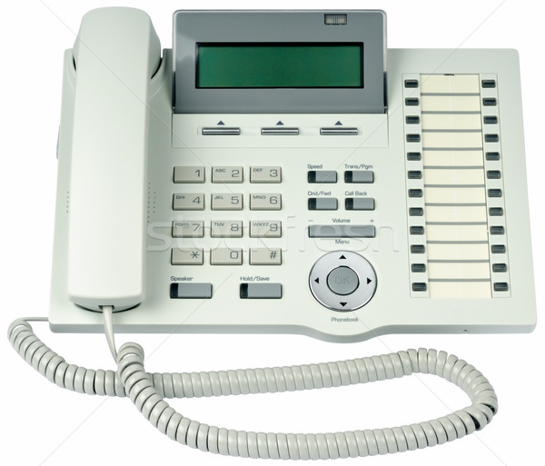 Office digital telephone isolated Stock photo © vtls