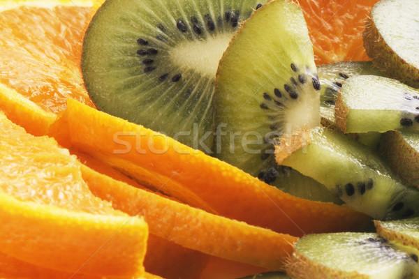 Sinaasappelen kiwi vruchten voedsel groene Stockfoto © vtls
