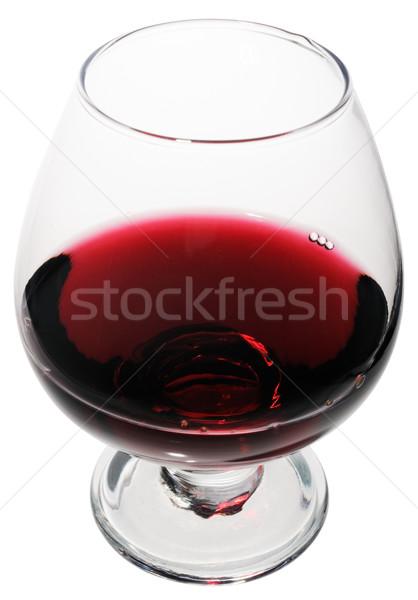 Rode wijn glas geïsoleerd witte Rood schone Stockfoto © vtls