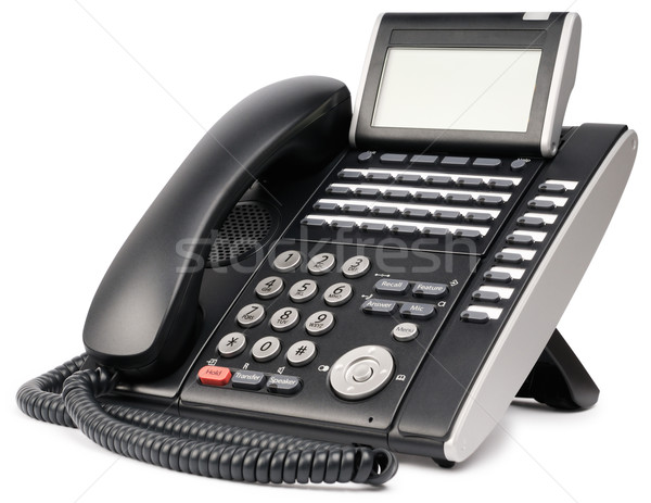 Kantoor digitale telefoon ingesteld lcd witte Stockfoto © vtls