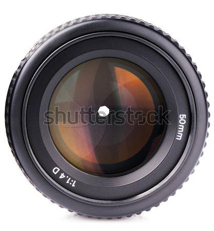 Kameralencse fotó kamera lencsék elöl kilátás Stock fotó © vtls