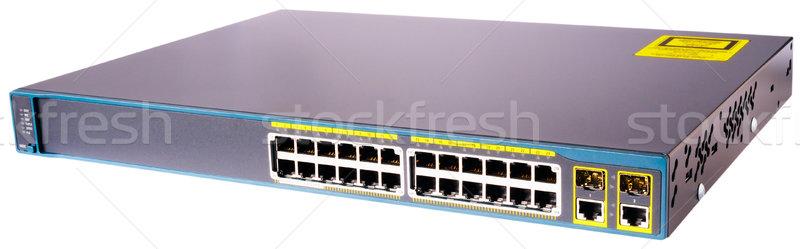 Sieci przełącznik 24 portu szybko Ethernet Zdjęcia stock © vtls