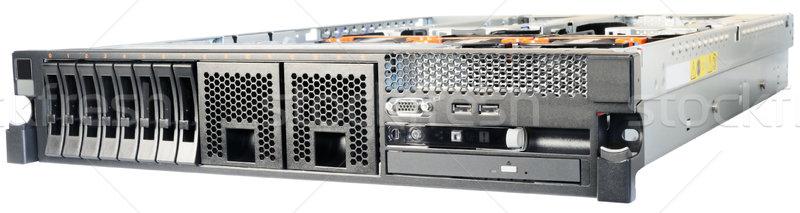 Server witte rack top dekken geïsoleerd Stockfoto © vtls