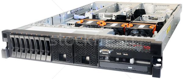 Rack-mount server over white Stock photo © vtls