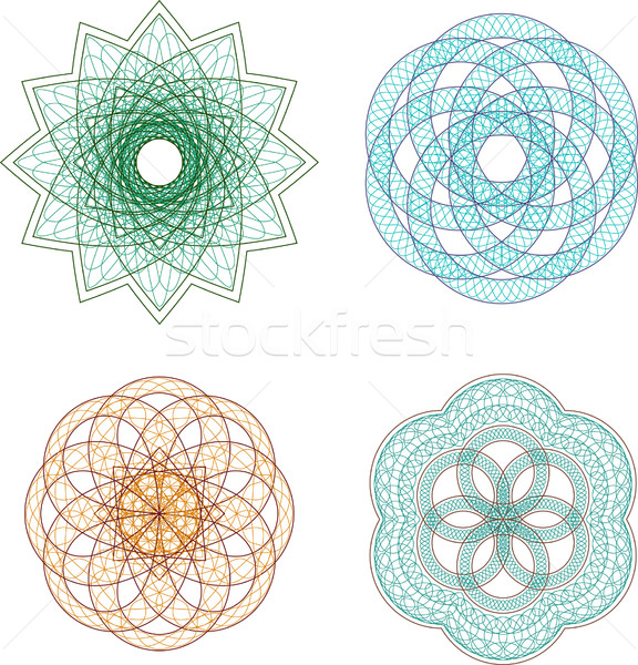 Vector set of guilloche rosette Stock photo © vtorous