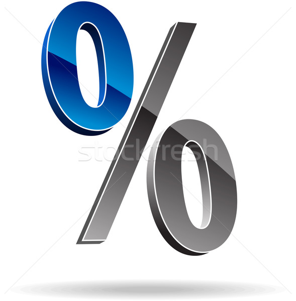 Percent symbol Stock photo © vtorous