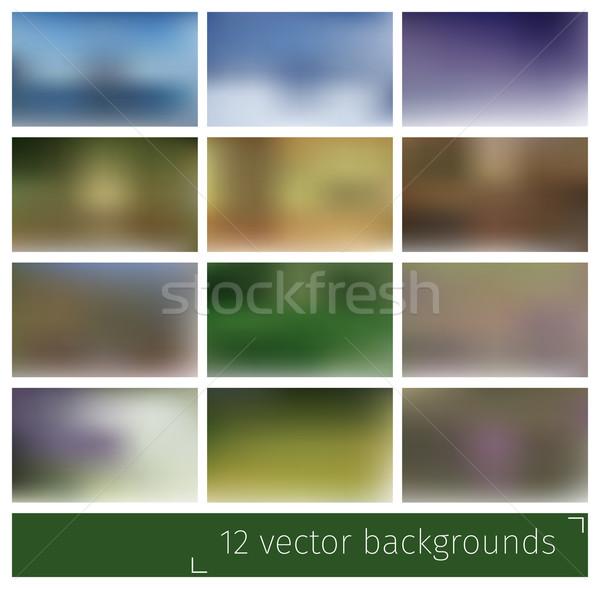 Streszczenie zamazany wektora środowisk stronie prezentacji Zdjęcia stock © vtorous