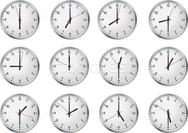 Set of clock Stock photo © vtorous