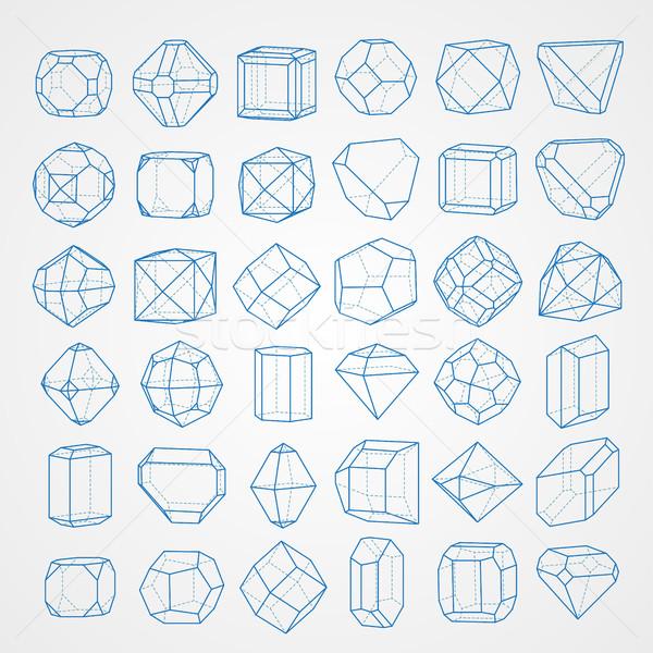 Geometri büyük ayarlamak geometrik okul arka plan Stok fotoğraf © vtorous