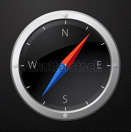 Negro brújula viaje objeto círculo reflexión Foto stock © vtorous
