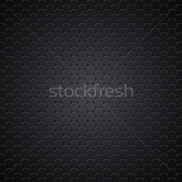 Zwarte textuur koolstof metalen naadloos auto Stockfoto © vtorous