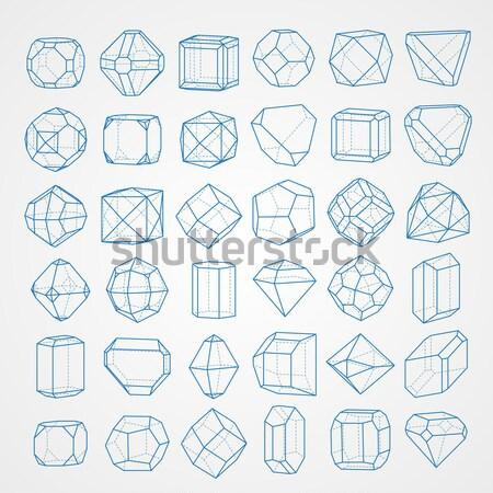 Set of geometric crystals. Stock photo © vtorous