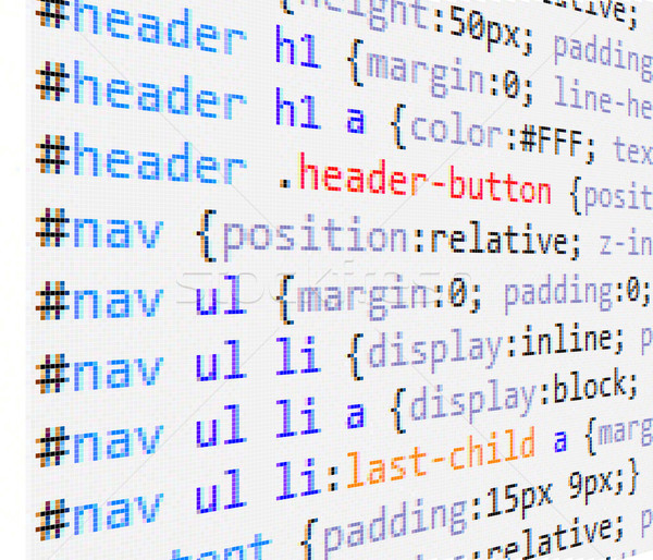 CSS and HTML code Stock photo © vtorous
