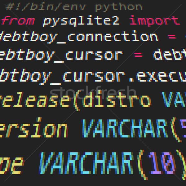 Codice schermo informazioni dati tech documento Foto d'archivio © vtorous