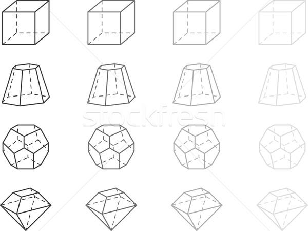Geometria cinza escolas fundo sala de aula branco Foto stock © vtorous