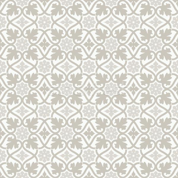 Ornamento sem costura floral padrão projeto papel de parede Foto stock © vtorous