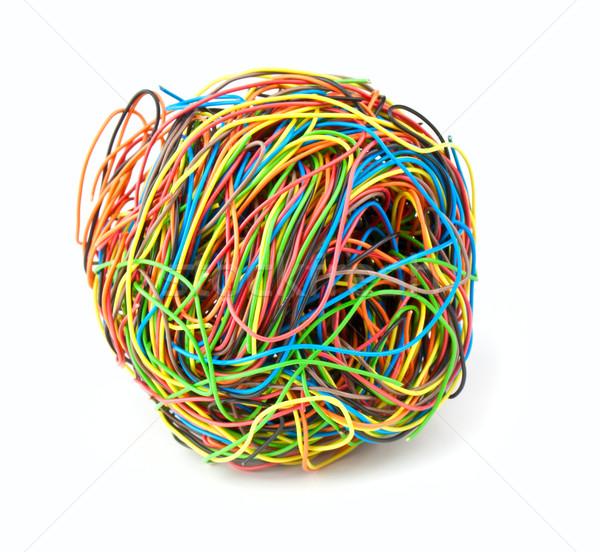 Colore filo colore palla isolato bianco Foto d'archivio © vtorous