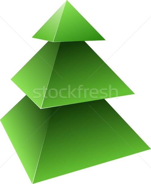 вектора сосна дерево зеленый зима Рождества Сток-фото © vtorous