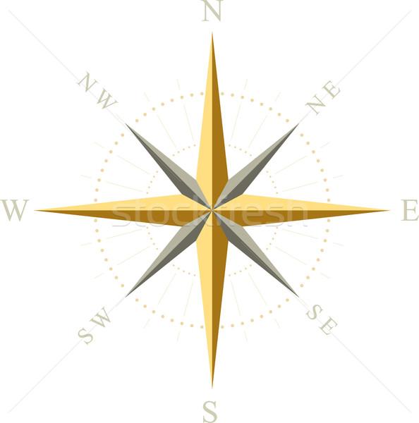 Kompas teken reizen plan object verloren Stockfoto © vtorous