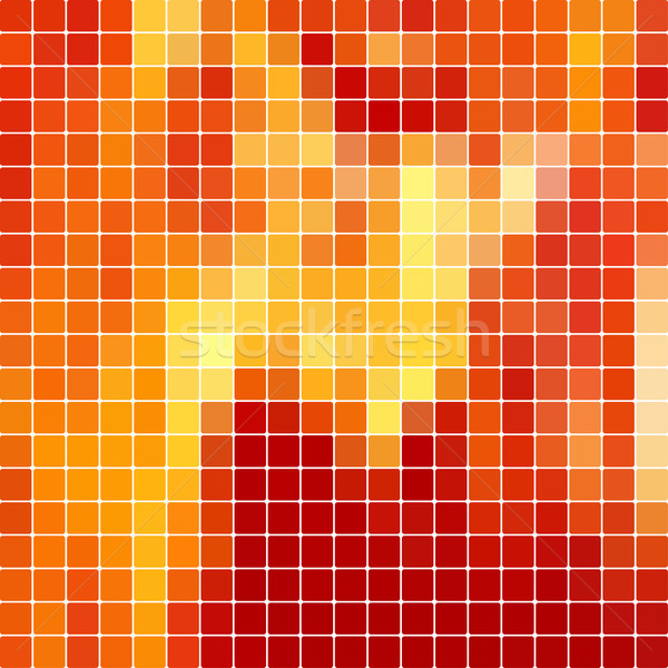 Red mosaic vector background Stock photo © vtorous