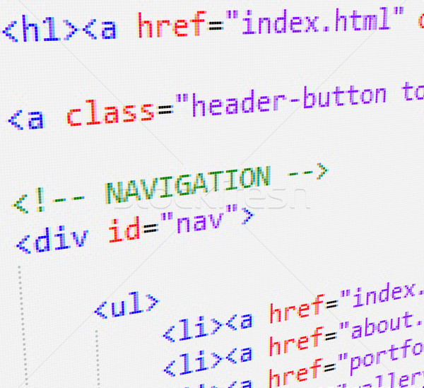 Css html code technologie informations données Photo stock © vtorous