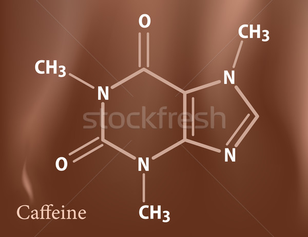 Cafeïne formule school medische achtergrond onderwijs Stockfoto © vtorous