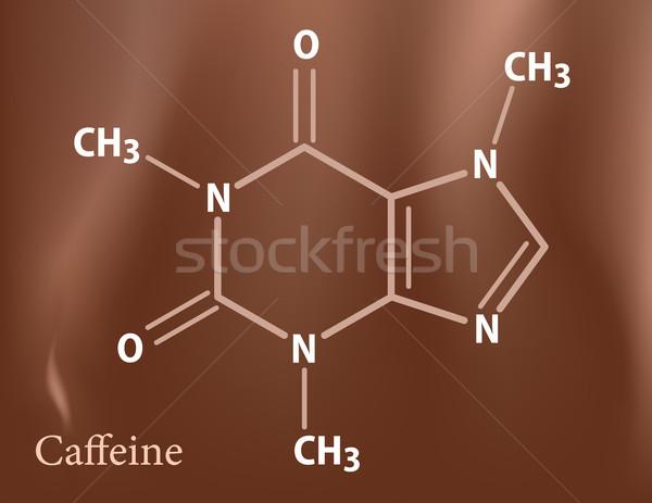 Caffeine formula Stock photo © vtorous