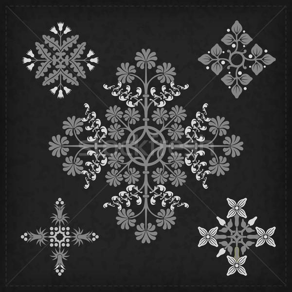 набор вектора украшения декоративный орнамент Элементы Сток-фото © vtorous