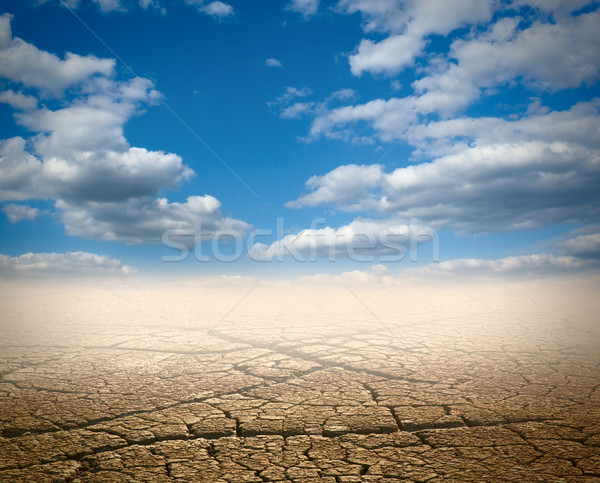 Desierto nubes sol muertos horizonte suelo Foto stock © vtorous