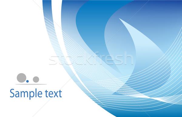 Modelo azul vetor espaço ondas elétrico Foto stock © vtorous