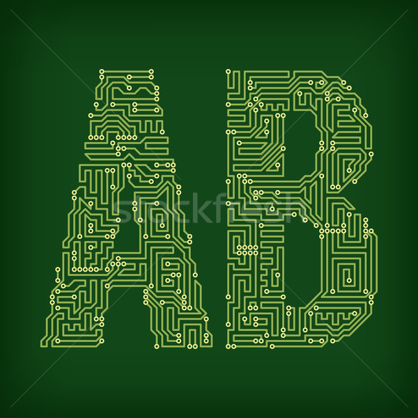PCB symbols Stock photo © vtorous