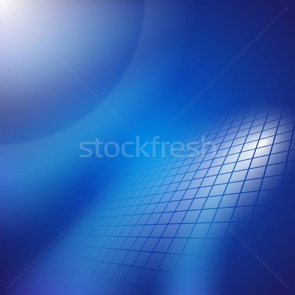 Absztrakt sötét kék vektor eps10 illusztráció Stock fotó © vtorous