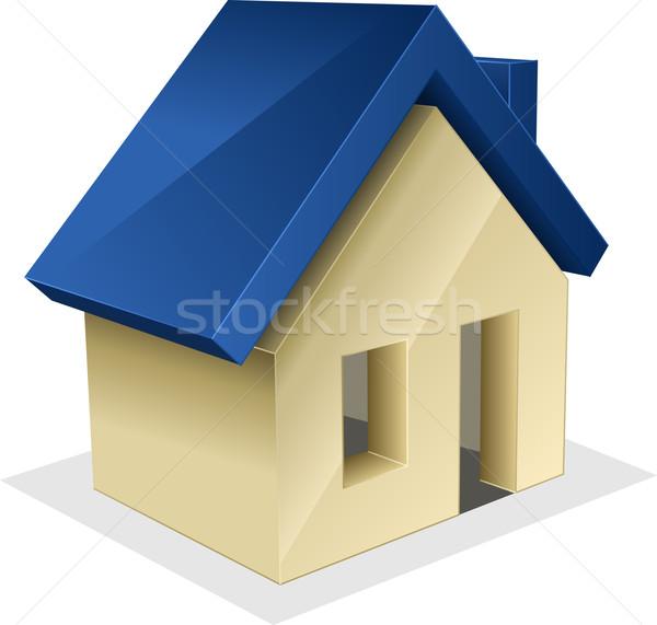 Casa ícone vetor projeto porta arquitetura Foto stock © vtorous