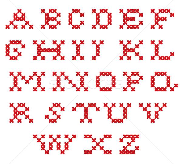 Embroidered alphabet Stock photo © vtorous