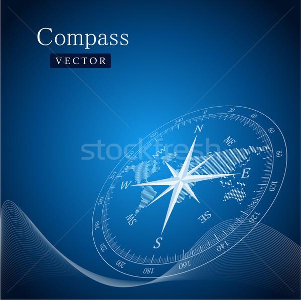 черный компас Мир путешествия объект Adventure Сток-фото © vtorous