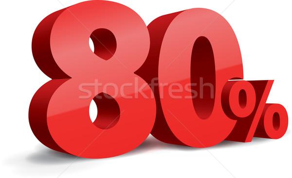 80 percent illustration Stock photo © vtorous