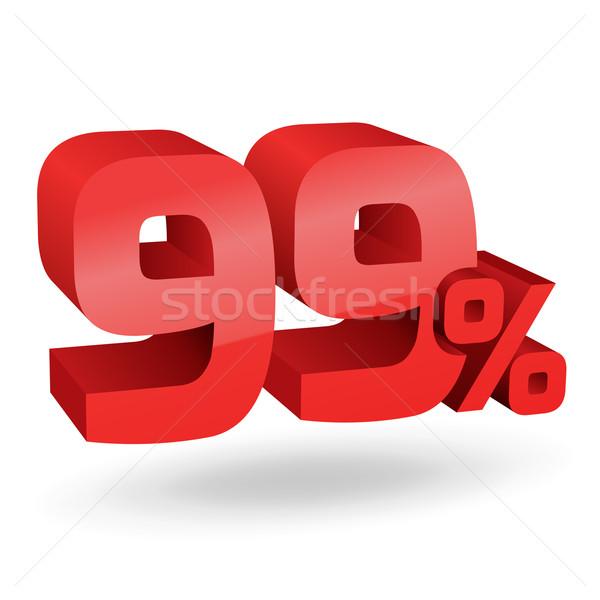 Procent ilustracja cyfry podpisania czerwony rynku Zdjęcia stock © vtorous