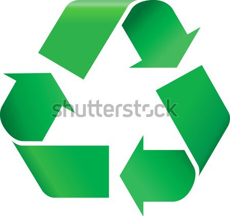 Recyklingu zielone symbol charakter życia gazu Zdjęcia stock © vtorous