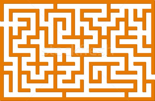 Orange labyrinth Stock photo © vtorous
