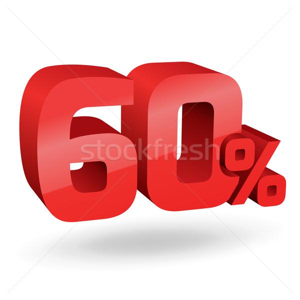 60 パーセント 実例 桁 にログイン 赤 ストックフォト © vtorous