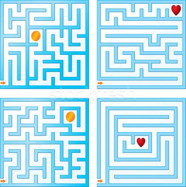 Small blue maze collections Stock photo © vtorous