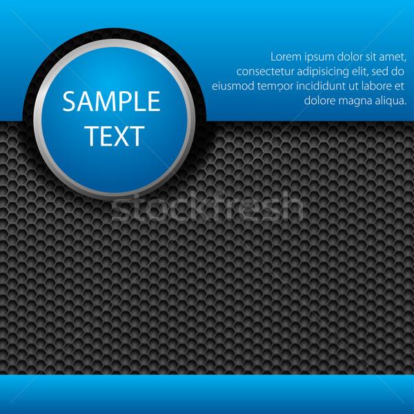 Abstract metallico blu brochure mondo vetro Foto d'archivio © vtorous