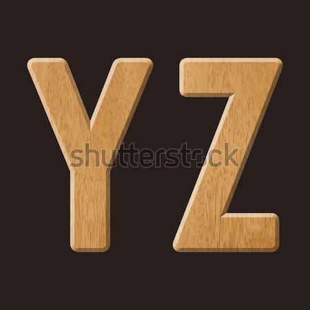 Wood letters Stock photo © vtorous