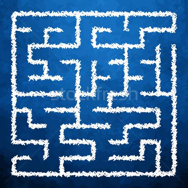 Illusztráció labirintus út fal fény segítség Stock fotó © vtorous
