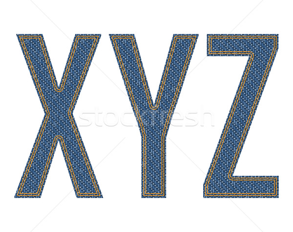 Denim letters Stock photo © vtorous