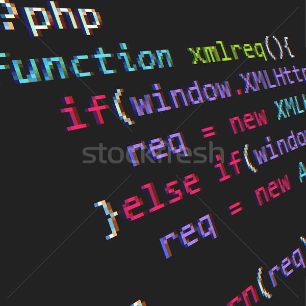 Php code pagina informatie gegevens tech Stockfoto © vtorous