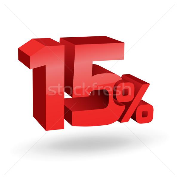 15 yüzde örnek imzalamak kırmızı Stok fotoğraf © vtorous