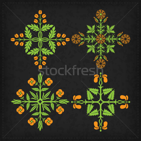 Set of vector ornaments. Stock photo © vtorous